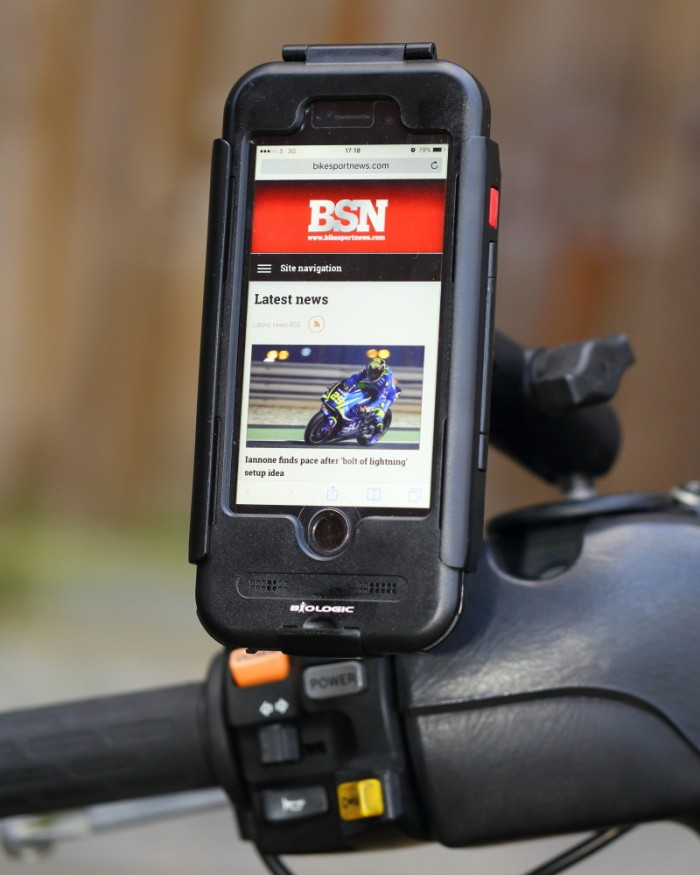 Just the job for browsing BSN.com at a ton-forty on the M25.