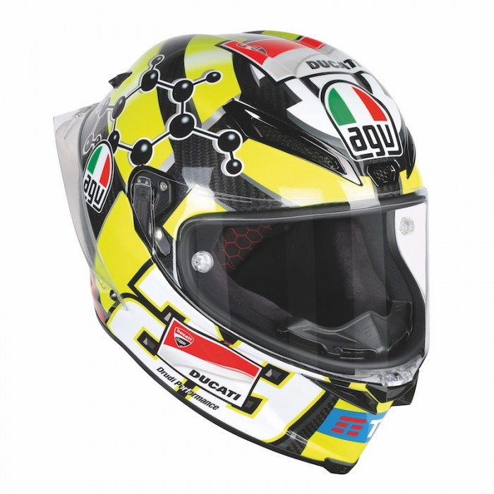 A replica of Iannone's lid - AGV's top impact tester