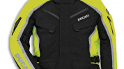 The jacket is waterproof and has a breathable membrane