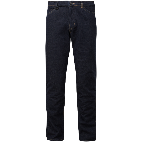 The jeans feature a smart system that holds the knee protectors comfortably in position